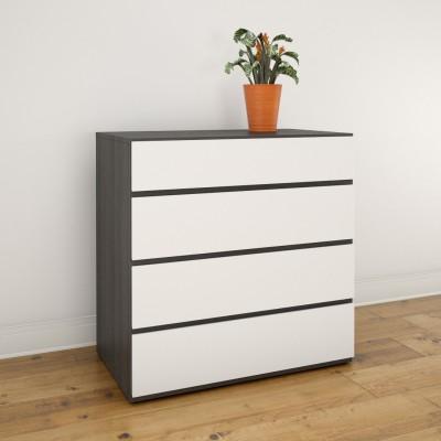4-Drawer Chest 223633 (White/Ebony)