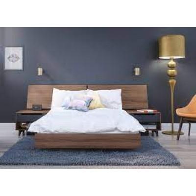 Alibi 4 Piece Queen Size Bedroom Set (Walnut) 400694