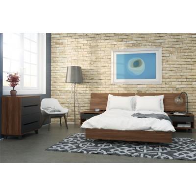 Alibi 5 Piece Queen Size Bedroom Set (Walnut) 400695