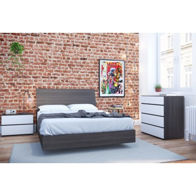 Momentum Queen Size Bedroom Set 4pcs (Ebony/White) 400762