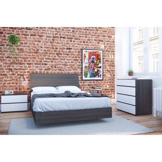 Momentum Queen Size Bedroom Set 4pcs (Ebony/White) 400762