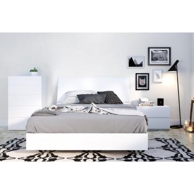 Paris Full Size Bed 4pcs (White) 400785