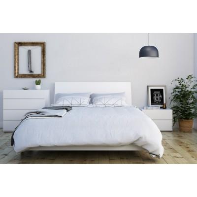 Paris Full Size Bed 4pcs (White) 400786