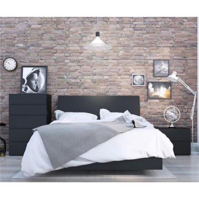 Corbo Full Size Bedroom Set 4pcs (Black) 400811