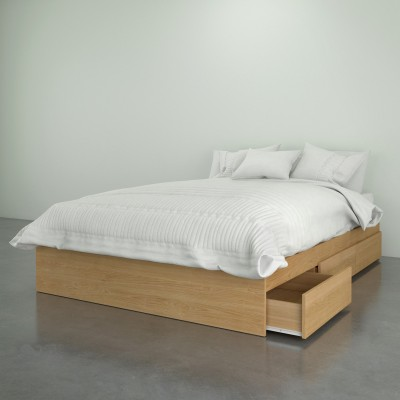 Full 3-Drawer Mates Bed 375405 (Natural Maple)
