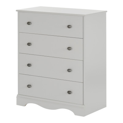Angel 4-Drawer Chest (Soft Gray)