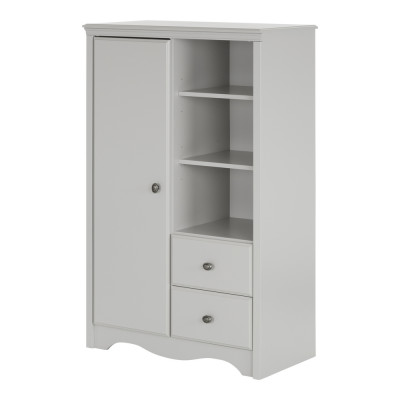 Angel Armoire with Drawers (Soft Gray)