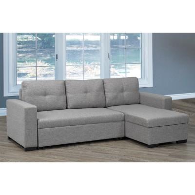 Sofa chaise longue T-1245 (Gris)
