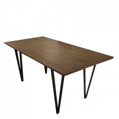 Croft Dining Table (Dark Brown)
